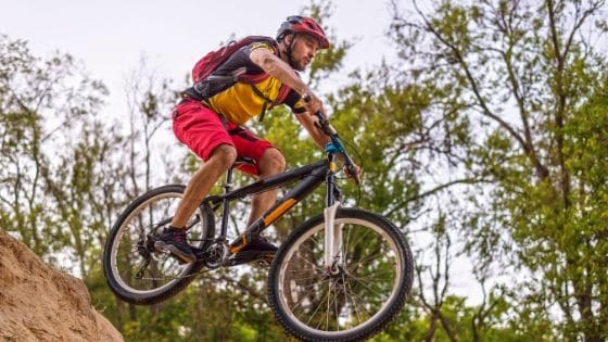 How do you jump a full suspension mountain bike