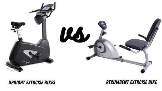 recumbent different than upright exercise bikes